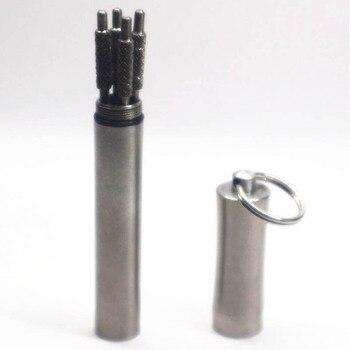 1 шт. водонепроницаемый чехол для капсул для таблеток портативный держатель для зубочистки из нержавеющей стали