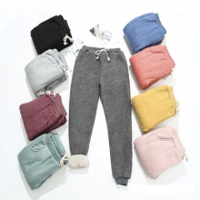 BEFORW 2020 Autumn Winter Women Fleece Sweatpants Trousers Casual Thick Velvet Loose Cashmere Sweatpants Tracksuit Pants