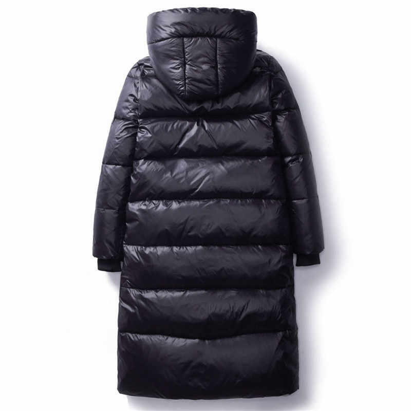 2020 Korea Musim Dingin Turun Katun Jaket Wanita Panjang Parka Ramping Berkerudung Hangat Musim Dingin Mantel Wanita Plus Ukuran Hitam Mantel v1162