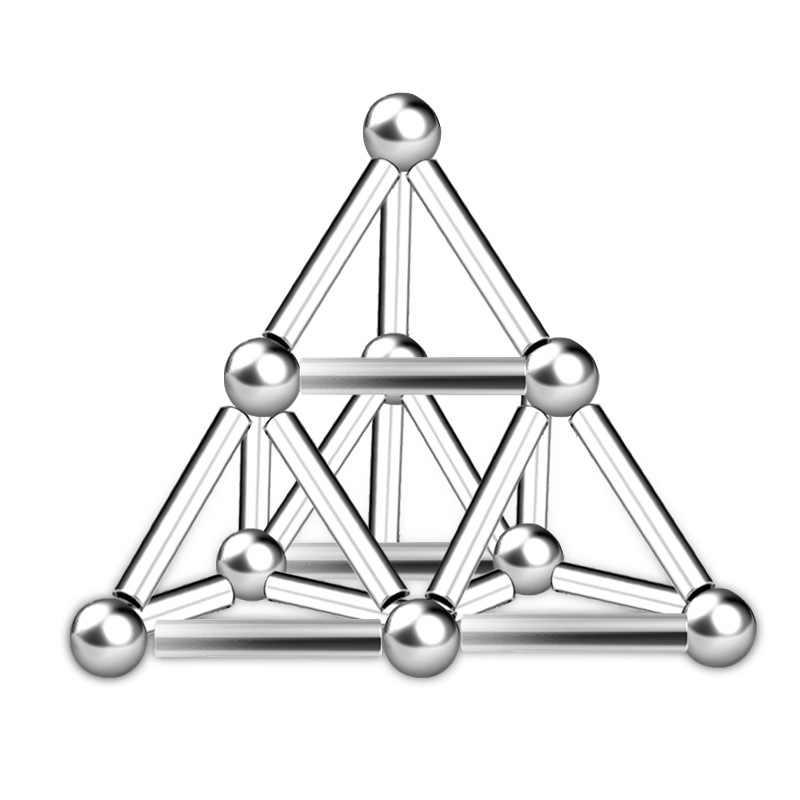 Kid Toy Set Sticks Magnets Metal Balls Magic Building Blocks Puzzle Construction