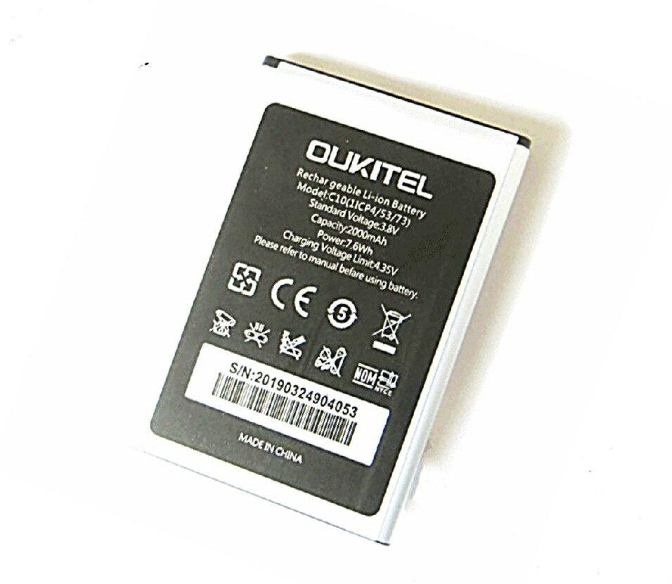 Westrock Del Telefono Delle Cellule di Batteria 2000mAh Batteria per Oukitel C10