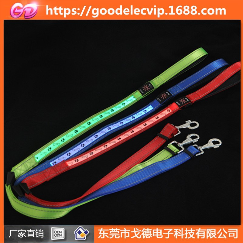 Dog Hand Holding Rope Pet Shining Traction Belt Night Light Chain Dog Rope Dog Dog Small And Medium Teddy Sling