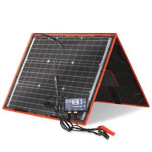 Image 3 - 18V 80W Monocrystalline מתקפל ערכת עם בקר תשלום 12V עבור בית/קמפינג/RV פוטו פנל סולארי סין