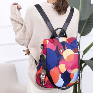 Image 5 - Fashion Anti Theft Women Backpack Durable Fabric Oxford School Bag Pretty Style Girls School Backpack Female Travel Backpack