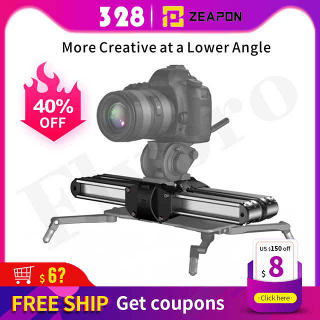 Zeapon Micro 2 Camera Rail Slider Aluminum Alloy Lightweight Portable Versatile Mounting Options for DSLR and Mirrorless Camera