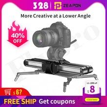 Zeapon Micro 2 Macchina Fotografica Ferroviarie Slider In Lega di Alluminio Leggero Portatile Versatile Opzioni Di Montaggio per DSLR e Fotocamera Mirrorless