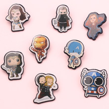 De Avengers Superheld Emaille Pins Science Fiction Movie Characters Metalen Broches Leuke Cartoon Lijm Dropping Revers Pin(China)