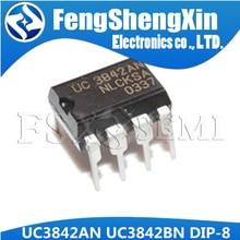 10 шт./лот UC3842AN DIP8 UC3842 UC3842BN DIP 3842AN DIP-8 UC3842A UC3842B UC3842 PWM контроллер IC