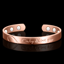 magnetic bracelet only love you 6 health care rose gold copper ornaments hand act the role of women