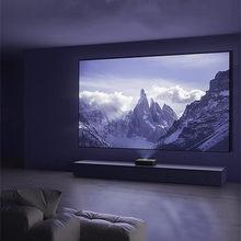 FUSTALRH-PT 100 ''120'' 16:9 UST CLR / ALR dar çerçeve projeksiyon ekranı PET siyah kristal lazer projektör Wemax A300