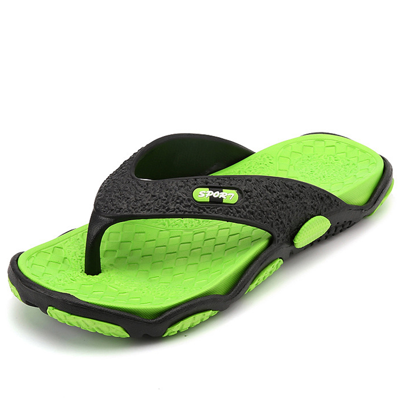 Summer Slippers Men Beach Sandals Breathable Outdoor Flip Flops Man Anti Skid Slides River Sea Mules Crocse Flat Zapatos Hombre