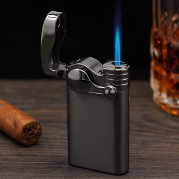 Kreatywna fajna zapalniczka wielokrotnego napełniania klasyczna modna podpalaczka Rocker osobowość Metal zapłon akcesoria do palenia Dropship tanie i dobre opinie CN (pochodzenie) H00029 Gas jet lighter 68*35*12mm Zinc alloy