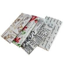 Tela de yute de imitación Vintage estilo británico impreso tela de lona gruesa para bolsa de almacenamiento funda de cojín 45*150cm TJ0346