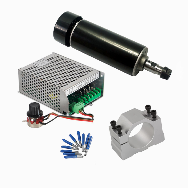 CNC Diy Machine 4 Sets Spindle 500W Air Cooled Mach3 Power Supply Governor 52MM Clamp 3.175mm Sharp Knife CNC Tools