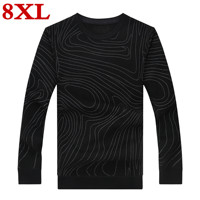 8XL 7XL 6XL 5XL plus size Autumn And Winter sweater men Autumn Fashion Brand Casual Sweater fleece Knitting Men Sweaters warm