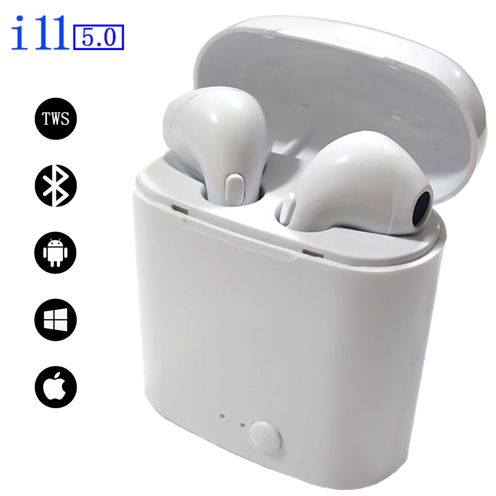 <font><b>TWS</b></font> wireless headset in-ear twin earbuds stereo Bluetooth earphones IPX5 waterproof wireless headphone for sport/office/home etc image