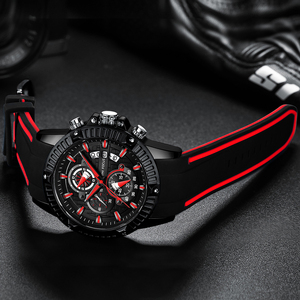 Image 1 - ผู้ชายนาฬิกาแฟชั่นกีฬานาฬิกาควอตซ์ Mens นาฬิกาแบรนด์ธุรกิจกันน้ำ Chronograph นาฬิกา Relogio Masculino