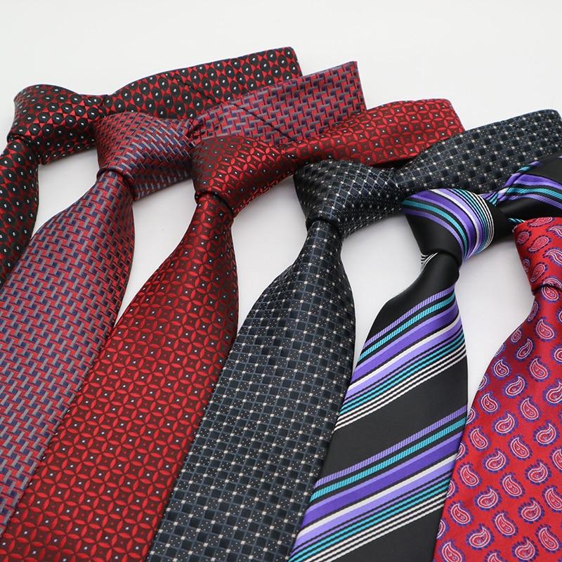 8CM Mens Ties Paisley Necktie  Gravata Corbatas Stripes Ties For Men Cravate Homme Formal Dress For Groom Tie  Wedding Party