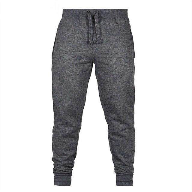 MoneRffi Men Casual Sweatpant Fashion Joggers Drawstring Trousers Solid Color Men's Hip Hop Joggers Fitness Pants Gym Sportwear