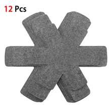 Almofadas do divisor dos protetores da bandeja do potenciômetro de 12 pces para impedir riscar separadas e proteger as panelas antiaderentes das superfícies para o cookware