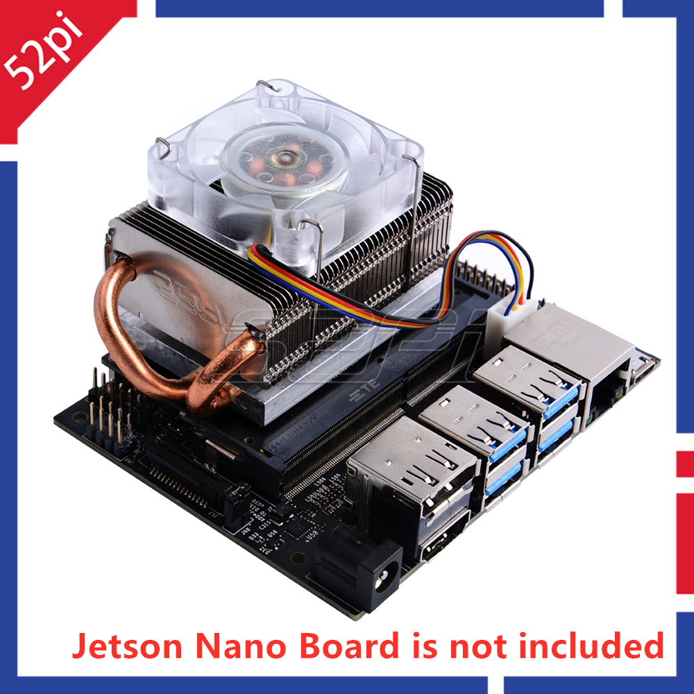 52Pi Ice Tower Cooling Fan Super 7 Colors RGB Changing Light For NVIDIA Jetson Nano Developer Board