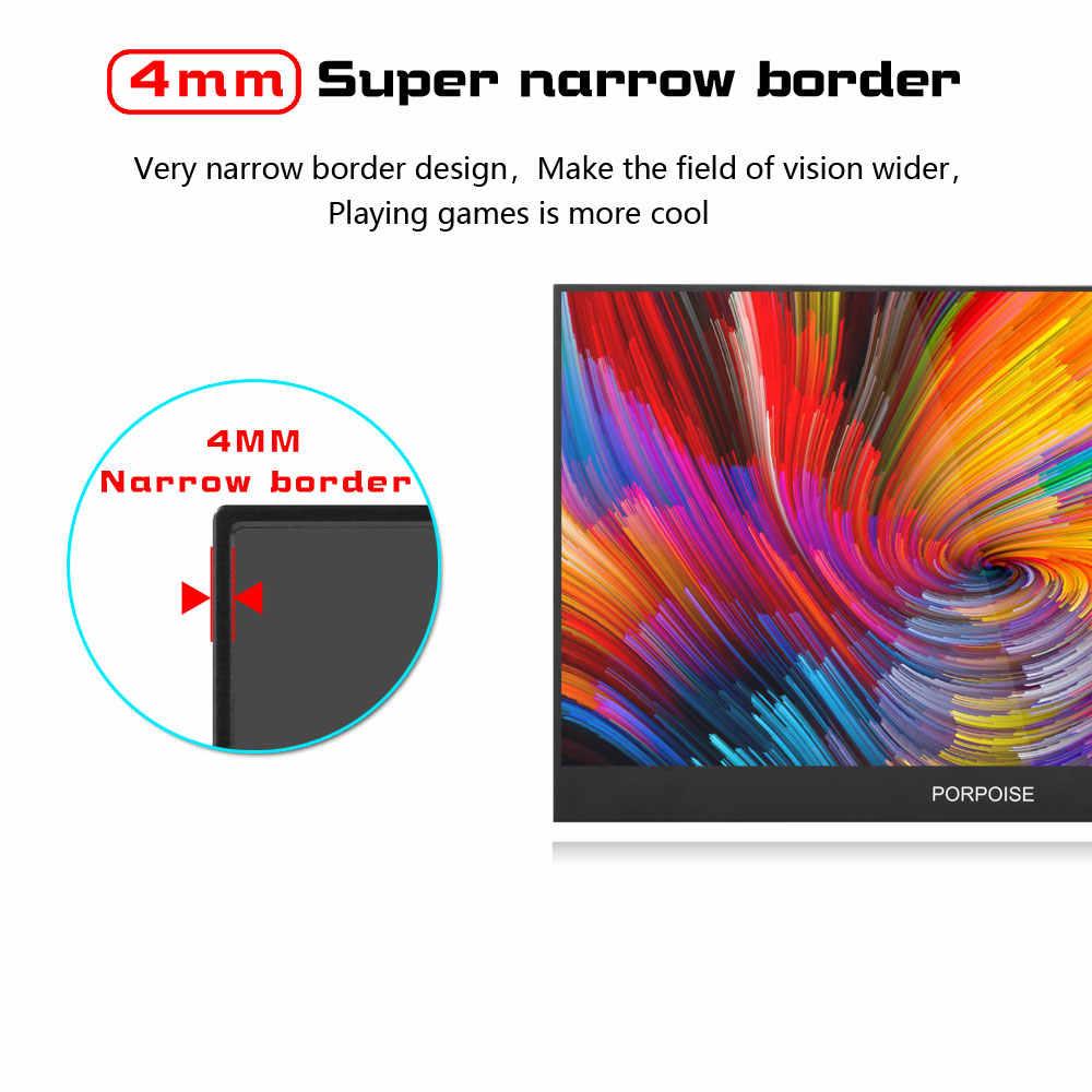 Porpoise 17.3 polegada jogo tela portátil 1920x1080 hdr ips ntsc 72% 60 hz display tipo c para ps4 xbox ns interruptor usb monitor