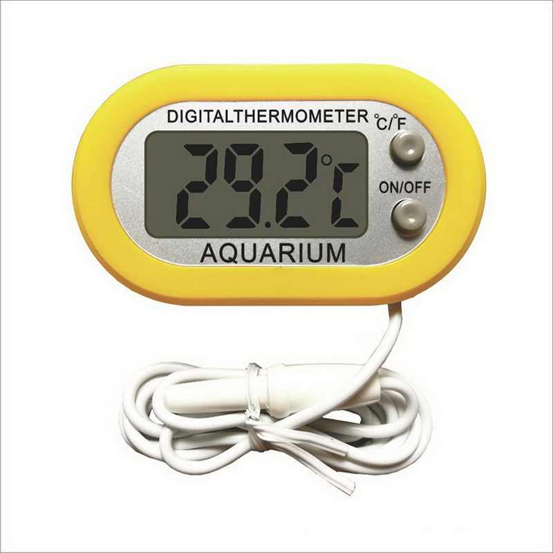 Digital Termometer Akuarium Tangki Ikan Air Terarium Monitor Suhu Mengukur Tahan Air LCD Digital Ikan Tank Hot