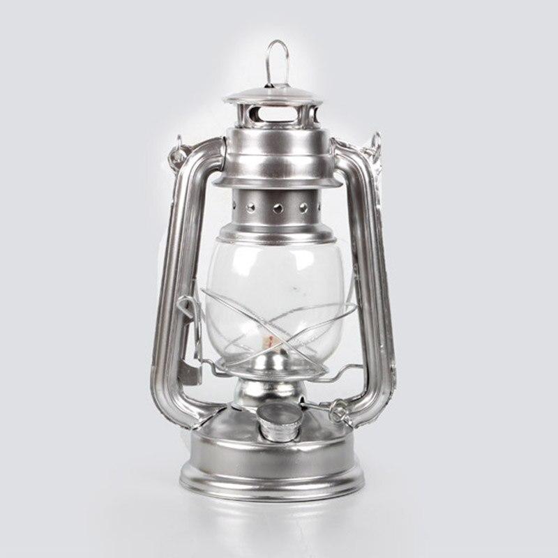 Rétro classique kérosène lampe 4 couleurs kérosène lanternes mèche Portable lumières ornement LB88