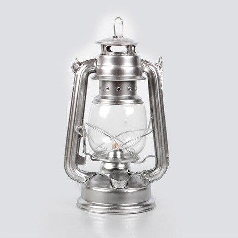 retro classico querosene lampada 4 cores querosene lanternas pavio portatil luzes adorno