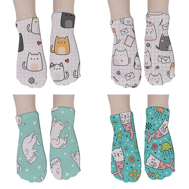 Mens Happy Ankle Socks 12 Colors Cartoon Striped Women's Socks Men Cotton Funny Female Harajuku Short Socks Women 8S-DW113