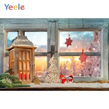 Yeele Christmas Party Photocall Window Decor Lantern Photography Backdrop Personalized Photographic Backgrounds For Photo Studio