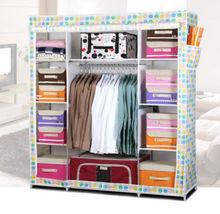 Super Large Reinforced Portable Home Wardrobe Storage Hanger Closet Organizer Rack New
