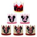 Шапка Disney на 1-й день рождения, шапка Микки и Минни Маус, Дональд Дак, корона на первый день рождения, шапка на день рождения, украшение для дет...