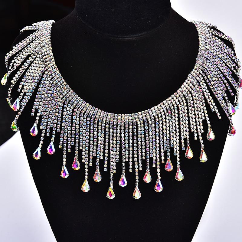Strass applique pour collier /& bracelet mariage chaîne crystal bridal trim