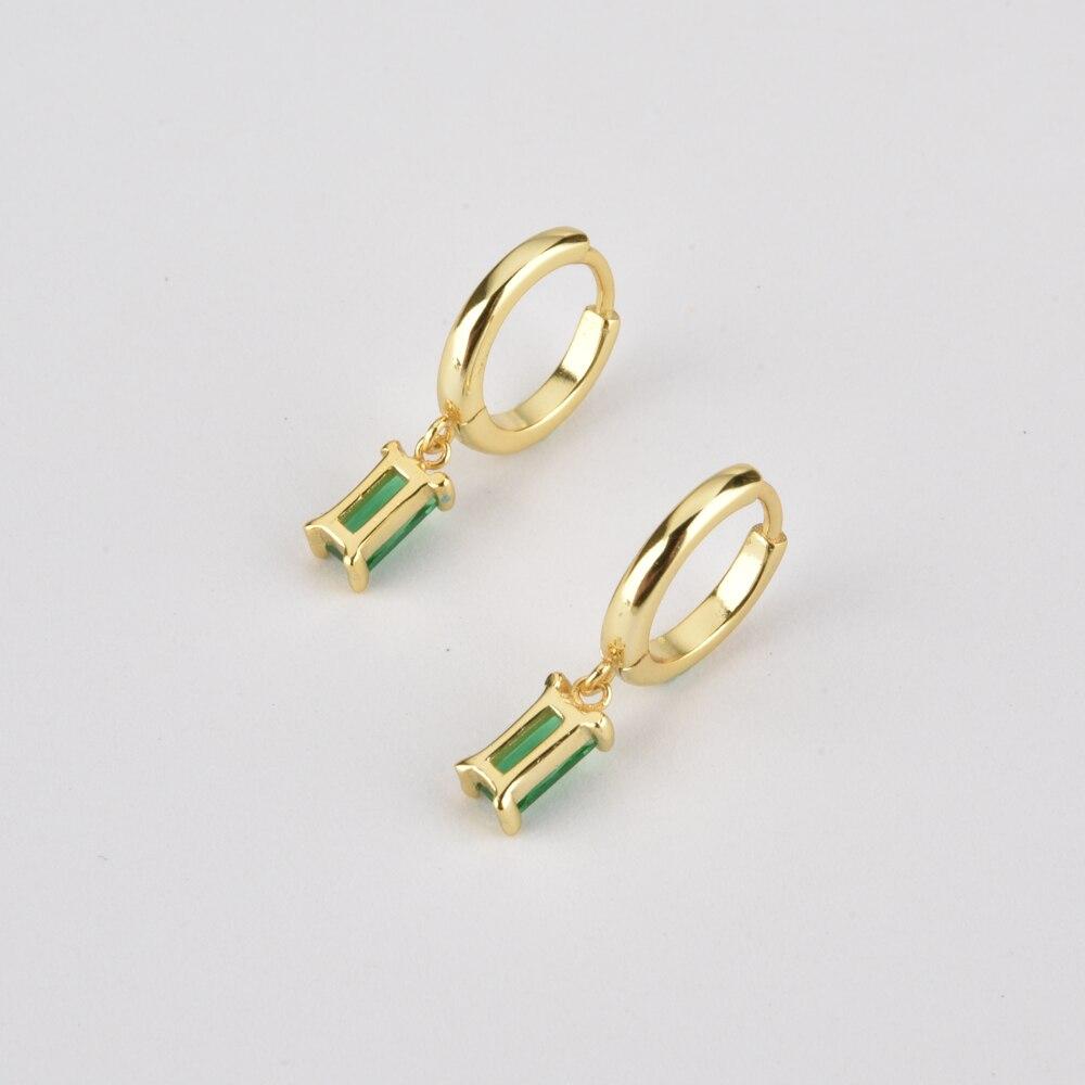 ANDYWEN 925 Sterling Silver 10 Color Pendiente Earring Drop Earring Piercing Women Luxury CZ 2020 Fine High Quality Jewelry