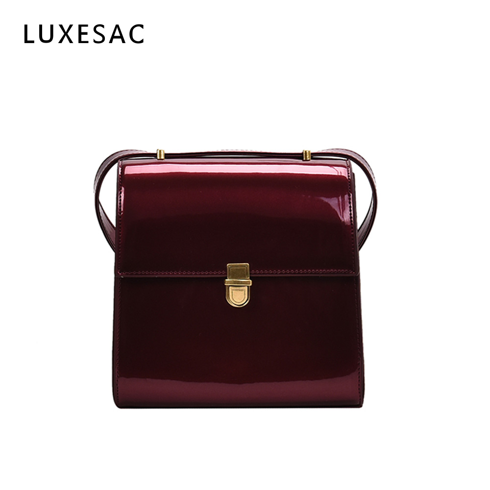 Fashion Lacquer Bag For Women Luxury Brand Leather Handbag Bolsas Feminina Small Crossbody Shoulder Bag Ladies Messenger Bag Sac