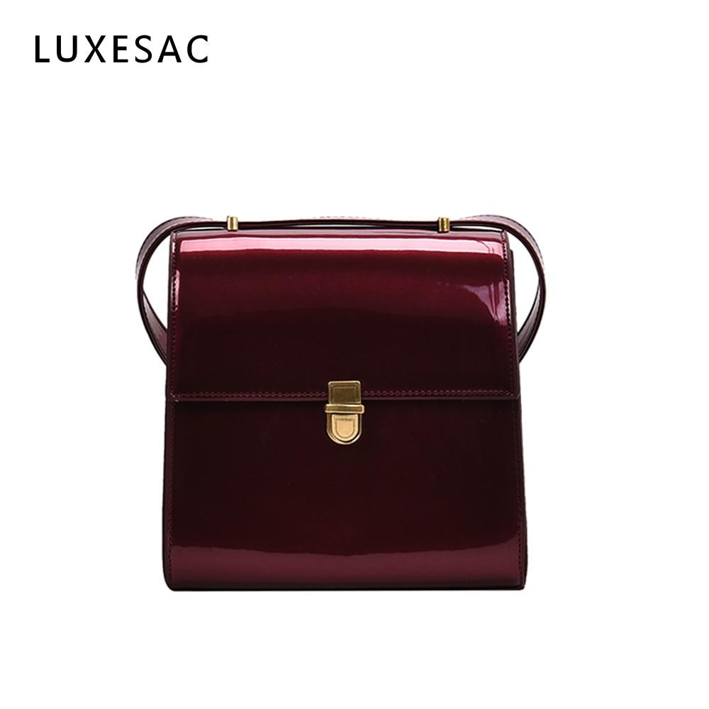 Fashion Lacquer Bag For Women Luxury Brand Leather Handbag Bolsas Feminina Small Crossbody Shoulder Bag Ladies Messenger Bag Sac