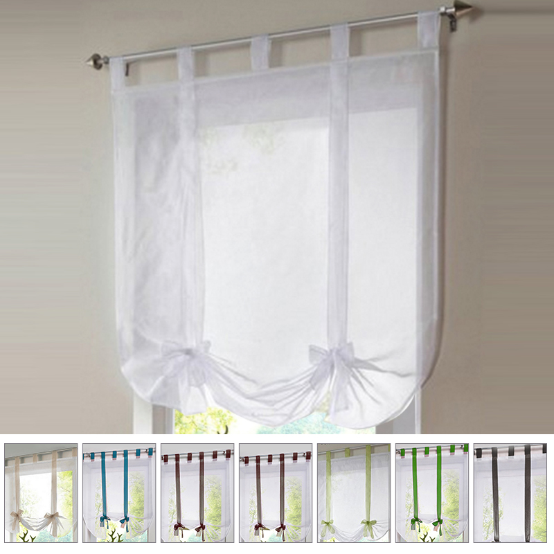 Solid Flying Window Tulle Yarn Balcony Curtain Screen Voile For Living Room Kitchen Home Transparent Sheer Curtain Drapes Drapes