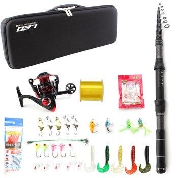 Multifunction fishing rod set 1.8m 2.1m 2.4m 2.7m 3.0m Spinning Rod and Spinning Reel Lures line Hook Fishing tackle bag