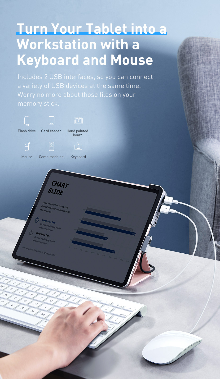 Adaptador multifuncional de Baseus para tablets e iPad - Noticias Xiaomi