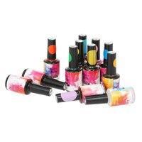 12 Colors 15ml Watercolor Nail Polish Blooming Nail Gel Manicure Decor Smoke Effect Nail Art DIY Tools Manicure Accessory