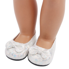 White Net Shoes New Born Baby Doll Shoes for 18