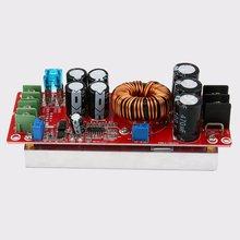 professional dc 20a 1200w dc dc step up boost converter power supply 8 60v 12v step up to 12 83v 24v 48v with heat sink 1200W 20A DC Converter Boost Car Step-up Power Supply Module 8-60V to 12-83V L