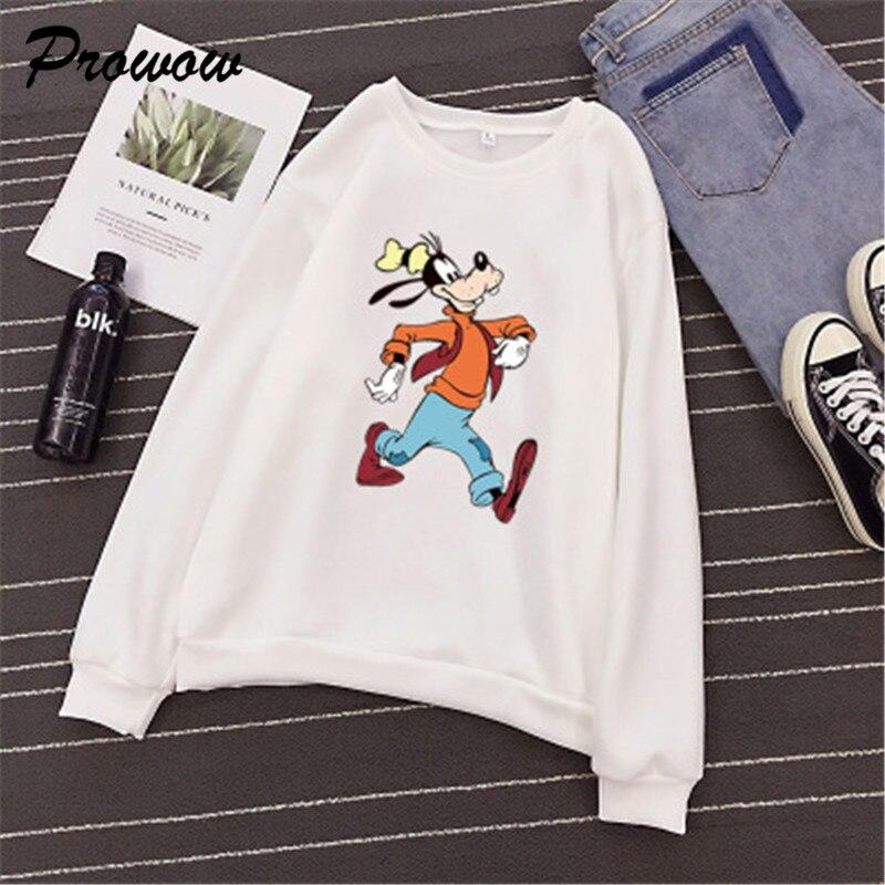 Cartoon Dog Women Sweatshirt Hoodie Animal Printed Long Sleeve Women Casual Hoodies Tops Sweatshirt Ladies Pullovers Sweatshirts