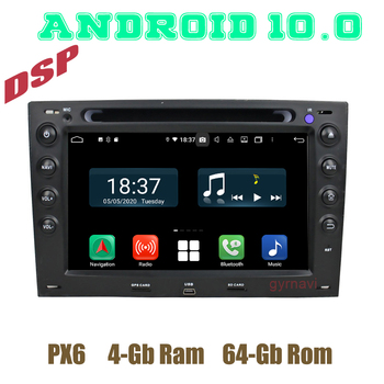 PX6 Car GPS DVD dsp Player Android 10.0 for Renault Megane 2 II 2003-2009 with 4+64GB USB WIFI 4G Auto Stereo Multimedia image