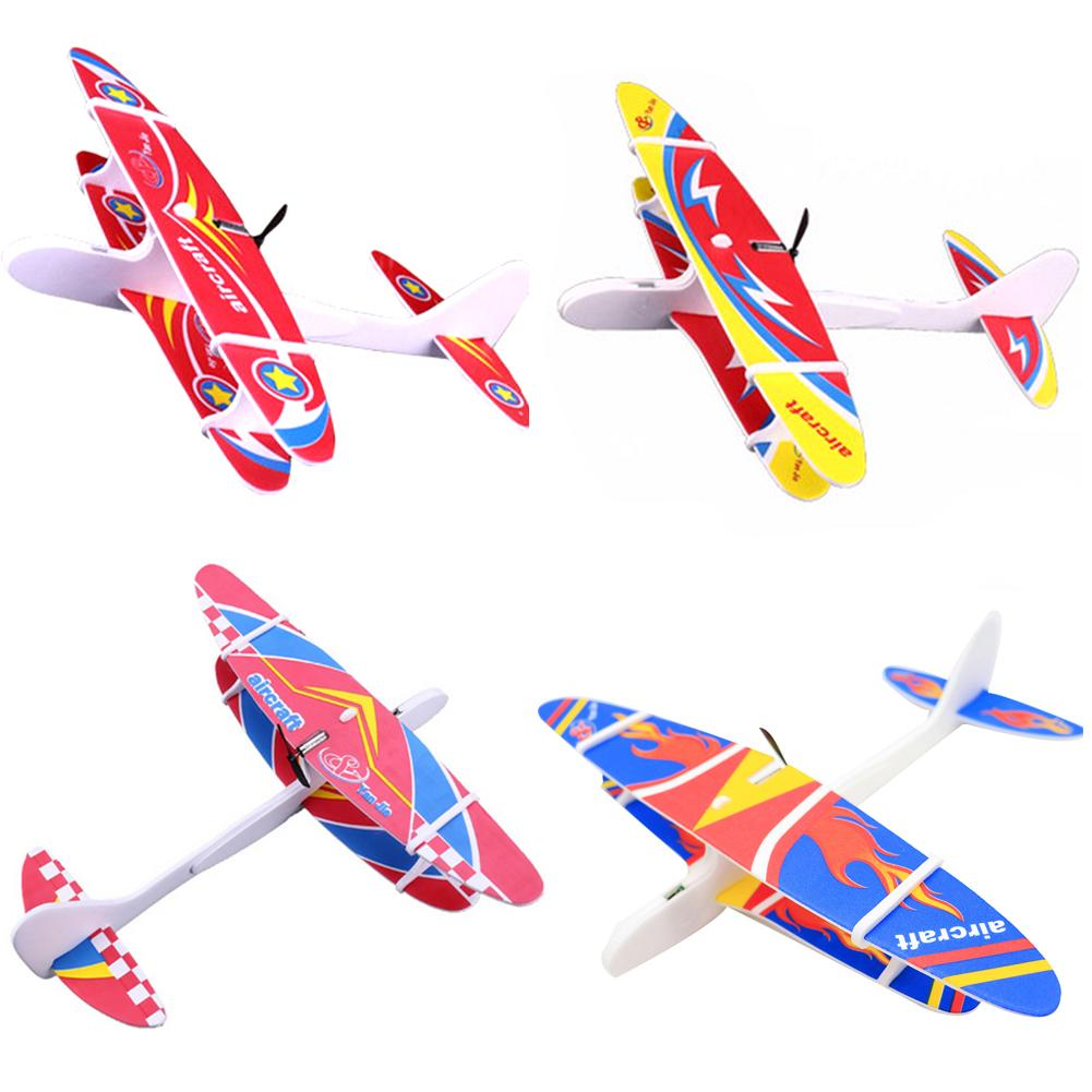 Kids Toys <font><b>Airplane</b></font> <font><b>Model</b></font> Hand Throw Plane 30cm EPP Foam Launch Aircraft Flying Glider Toys For Children Outdoor Game image