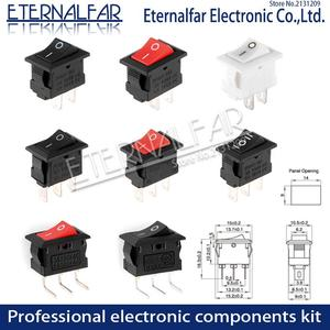 KCD11-101 Push Button Switch 10x15mm SPST 2Pin 3Pin 3A 250V 6A KCD11 Snap-in On/Off Boat Rocker Switch 10MM*15MM Black Red White