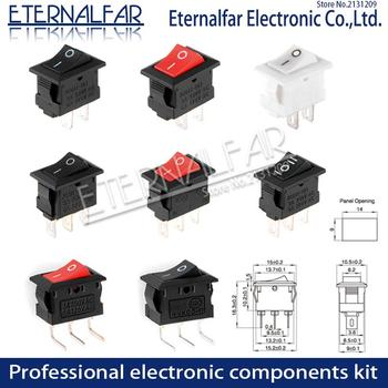KCD11-101 Push Button Switch 10x15mm SPST 2Pin 3Pin 3A 250V 6A KCD11 Snap-in On/Off Boat Rocker Switch 10MM*15MM Black Red White 20pcs 50pcs lot kcd4 31 25mm 4pin 16a 250v snap in dpst on off position snap boat rocker switch copper feet