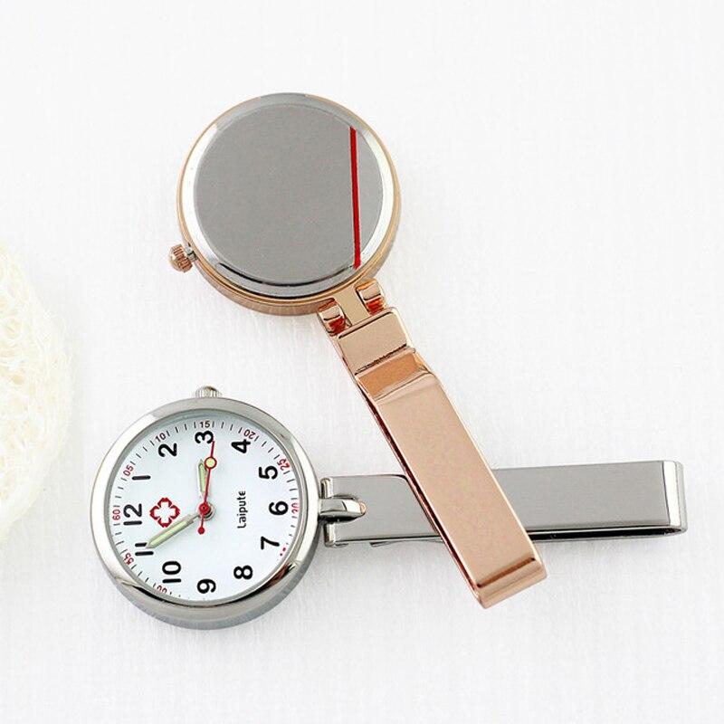 Relógio de Bolso com Clipe Relógios à Prova Médico para Hospital Clássico Enfermeira Dwaterproof Água Prata Rosa Ouro Lapela Presente Médico Dropshipping Fob
