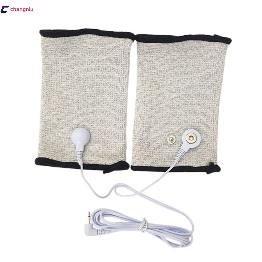 Drop ship 1 pair Silver fiber Electrode massage Wrist/knee/Socks,prevent rheumatism,electrode stimulation TENS/EMS accessories